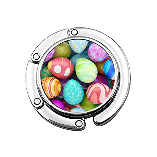 2pcs Colored Eggs Purse Hook For For Table Foldable Handbag Storage Folding Decor