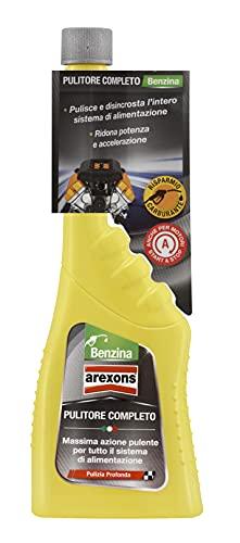 Arexons Additivo Pulitore Completo Sistema Alimentazione Benzina, 250 ml, Adatto per Tutti i Motori a Benzina, Lubrifica le Valvole, Migliora Prestazioni Motore Benzina, Elimina Partenze Difficili