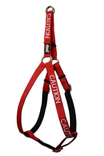 Dexil Limited DO NOT PET Red Color Coded Neoprene Padded Non-Pull Harness Prevents Accidents by Warning Others of Your Dog in Advance