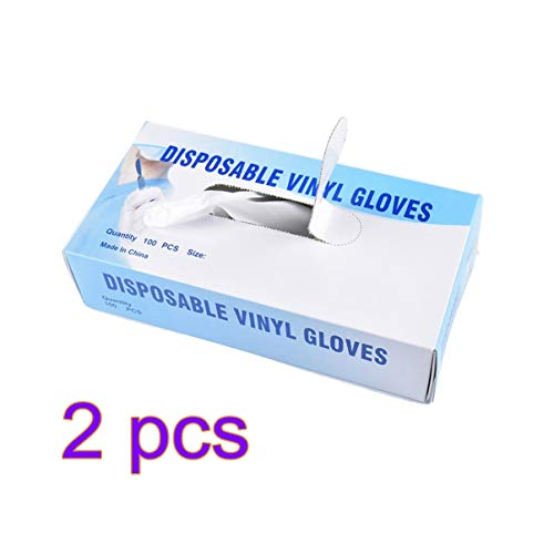 Hakka 100 paia di guanti usa e getta in PVC guanti da ospedale pratici guanti protettivi...