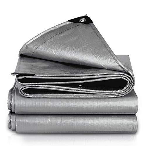 TRNCEE Waterdichte doek voor buiten, universeel, polyethyleen, waterdicht, zonnecrème, zeildoek, 200 g/vierkante meter schaduw 3x5m
