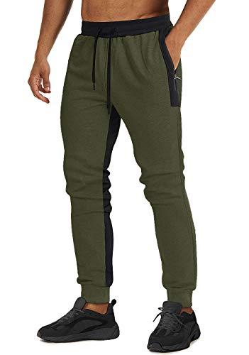 MAGCOMSEN spodnie na siłownię męskie lekkie dresy spodnie dresowe spodnie dresowe spodnie dresowe slim fit chodzenie bieganie z zamkiem błyskawicznym kieszenie spodnie
