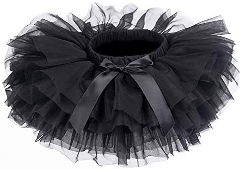 Baby Girls Tutu Skirt Infant Tulle Tutus Newborn Soft Skirts for Toddlers Black product image