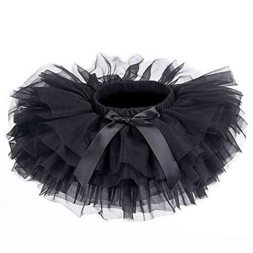 belababy Baby Girls Tutu Skirt with PP Shorts,Black 24 Months