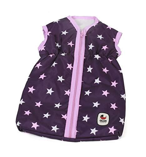 Bayer Chic 2000 792 71 Puppen-Schlafsack für Babypuppen, Stars lila