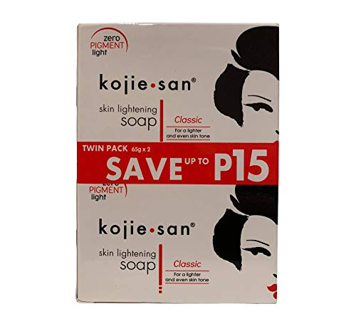 Whitening soap by kojie san skin lightening kojic acid soap (2 bar 135g)