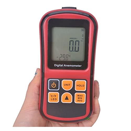 Medidores de Velocidad del Viento Digital Mini Anemómetro Alto precisión LCD Pantalla LCD Tacómetro de Viento Medidor GM8901 Medidor de Temperatura de Velocidad de Aire MEDICIÓN 0~45M / S para medir