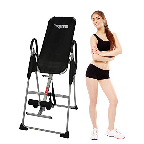 TRY & DO Heavy Duty Inversion Table 58-78 Inches Adjustable Pain Therapy Training with Protective Belt Support up to 300LBS
