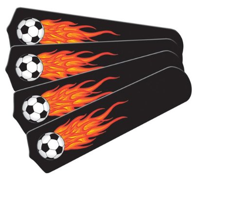Ceiling Fan Designers 42SET-KIDS-FSB Flaming Soccer Balls 42 in. Ceiling Fan Blades Only