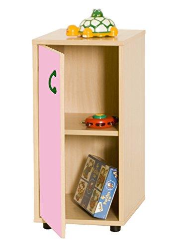 Mobeduc 600216HPS22-Mobile per sotto/armadio a 2 ripiani, in legno, colore: rosa/faggio, 40 x 36 x 76,5 cm
