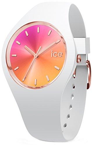 Ice-watch Sunset California Damen Uhr analog Japanisches Quarzwerk mit Silikon Armband IC015750