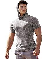 COOFANDY Men's Hipster Short Sleeve Workout Hoodies Casual Top Spring Summer
