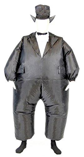 Tuxedo Tux Adult Black Inflatable Chub Suit Costume