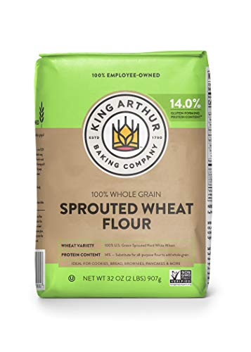 King Arthur, Sprouted Wheat Flour, 100% Whole Grain, Non-GMO Project Verified, Certified Kosher, 2 Pounds