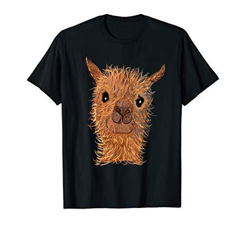 Alpaka Lama - süßes Alpaka - niedlicher Alpakakopf - Lama T-Shirt