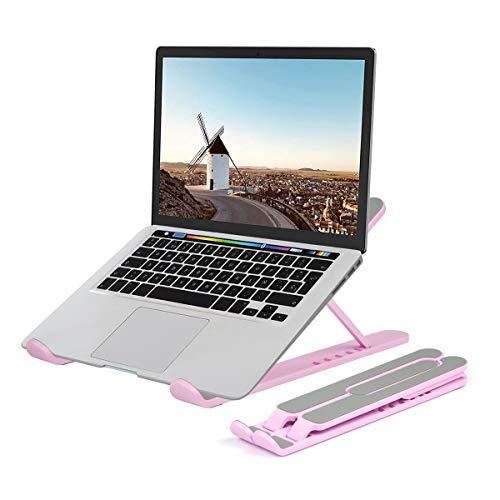 Evershop Laptop Tablet StanderNotebook Stander Tragbarer Faltbar HohenverstellbarLaptop Halterung Kompatibel Fur MacBook ProAir HP Dell Lenovo Samsung Acer Huawei Alle 10 156 Zoll Notebooks