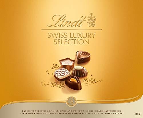 Lindt Swiss Luxury Selection Assorted Chocolates, Chocolate Gift Box, 14.6 oz Gift Box