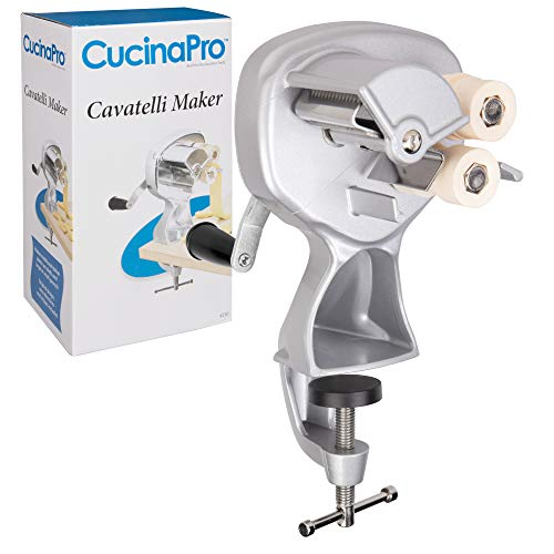 Cavatelli Maker Machine w Easy Clean Rollers- Makes Authentic Gnocchi, Pasta Seashells and More- Recipes Included