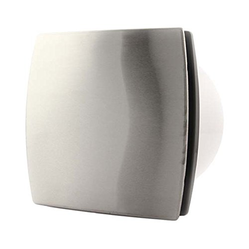 Unbekannt Neu Wand-Ventilator Wandlüfter Ø 100 mm/Edelstahl Lüfter Badlüfter Ilox (HT - Feuchtesensor + Nachlauf)