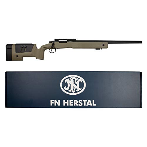 CYBERGUN Kit Completo Softair + Fucile Sniper FN SPR Cecchino Da Softair/Airsoft Caricamento a Molla, In Polimero e Metallo, Lunghezza 1010mm, Caricatore Da 30 Pallini, Peso 2,2kg, Potenza 0,9 Joule.