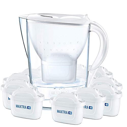 BRITA Marella – Jarra de Agua Filtrada con 12 cartuchos MAXTRA+ – Filtro de agua BRITA...