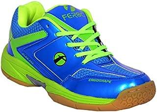 Feroc Blue & Green Unisex Badminton Sports Shoe