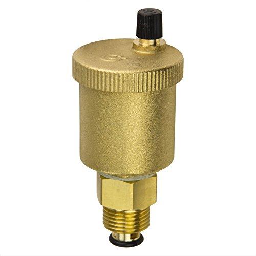 Stabilo-Sanitaer automatischer Schnellentlüfter 1/2 Zoll Messing DN15 Entlüftungsventil Minical Entlüfter senkrecht mit Absperrung