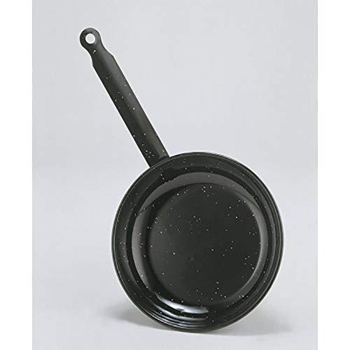 La Idéal émaillé Poêle à frire peu profondes, Acier, Noir , 24 cm