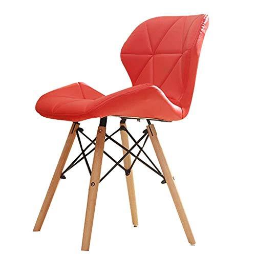NJ barkruk, modern, minimalistisch, bureaustoel, ontbijt, keuken, lounge 48x38x72cm Rood