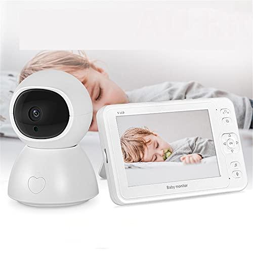 WQY 5.0 Pulgadas 2MP Baby Monitor Cámara Inalámbrica para Bebés Alarma De Llanto Charla Bidireccional, Detección De Movimiento De Temperatura Visión Nocturna