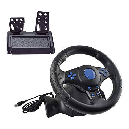 Homyl Racing Gaming Steering Wheel Pedals Gear Shifter for PS4/PS3 Xbox One PC 360, Realistic Design Lets You Steer Your car just Like a Real one.
