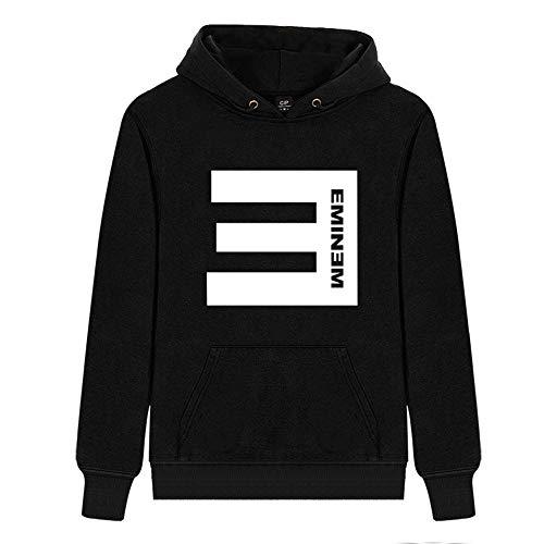 Unisex Eminem Moda Sencilla Chaqueta Deportiva Sudadera con Capucha Informal Primavera y otoño Abrigo con Capucha Manga Larga Algodón Puro con Capucha