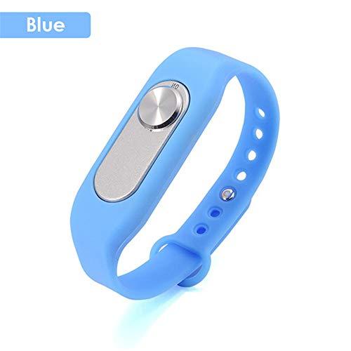 HM2 Tragbare Digitale Diktiergerät Wearable Armband Voice Recorder Business Audio Sports Armband 8 GB 70 Stunden Aufnahme Meeting,Blau