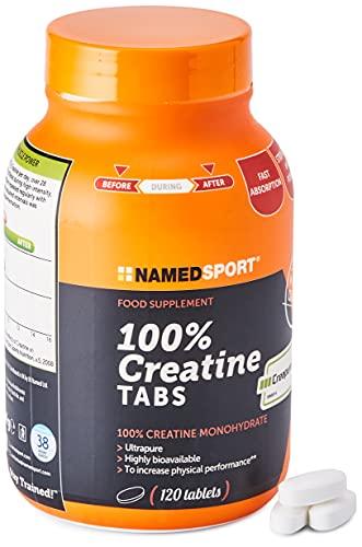 Named - Integratore alimentare 100% Creatina, 120 compresse