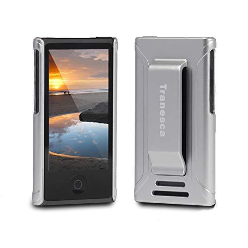 iPod Nano 7 case - Tranesca Ultra Slim Protective Case for iPod Nano 7&8th Generation with Premium Tempered Glass Screen Protector. (Ivory Silver)