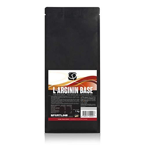L-Arginin Base Pulver 1 kg vegan 100% pur ohne Zusatzstoffe | gewonnen aus Fermentation pflanzlicher Ursprung | freie Aminosäure | Golden Peanut
