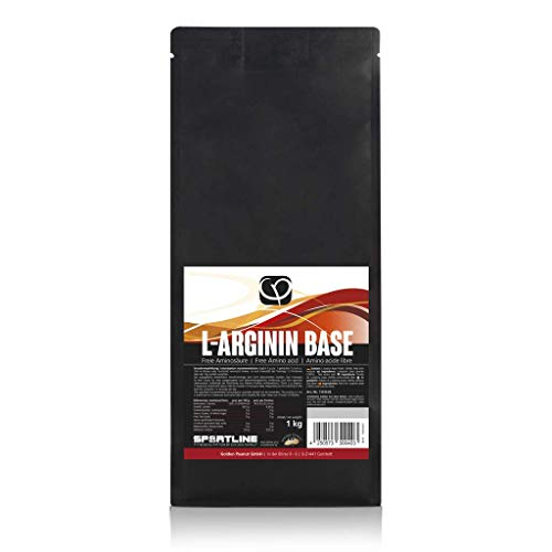 L-Arginin Base Pulver 1 kg vegan 100{09e9d47819607dcbaa726fc360091811ec915ce44da43ee3957f59e3c2ca4fc0} pur ohne Zusatzstoffe | gewonnen aus Fermentation pflanzlicher Ursprung | freie Aminosäure | Golden Peanut