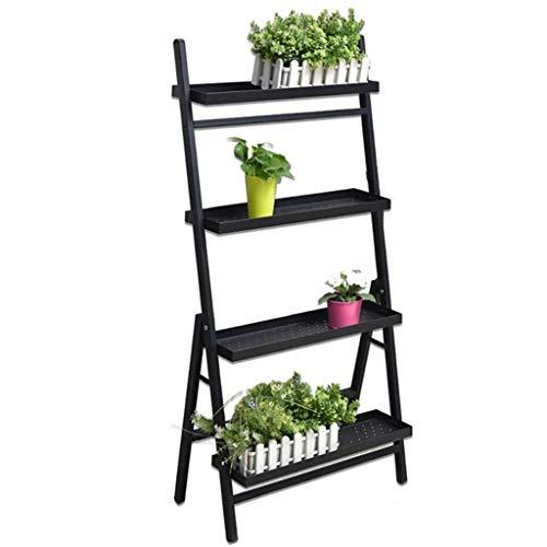 DHMHJH Blumenständer, Indoor- Und Outdoor-Blumenständer - Balkon-Pflanzenständer Aus Schmiedeeisen - Mehrstöckiger IKEA Gartenhof-Ausstellungsständer (Size : Four Floors)