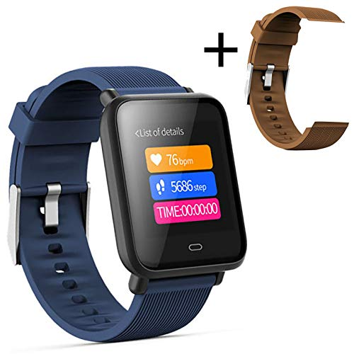 HX0945 Smartwatch Q9 bloeddrukmeter, hartslagmonitor, slaaparmband, IP67, waterdicht, sport, fitness, trakcer, Bruin