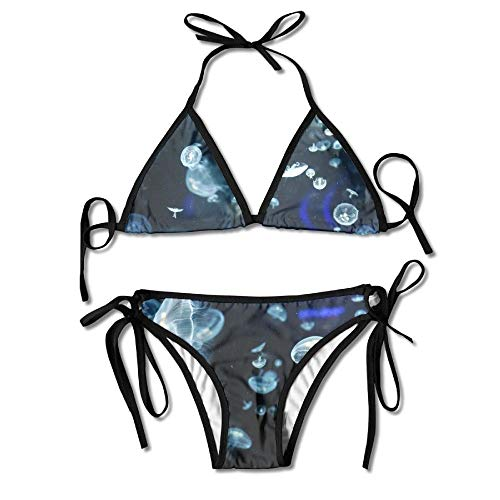 Women's Thong Bikini Suit Swimsuit Jellyfish Underwater Sexy Bikini Set 2 Piece