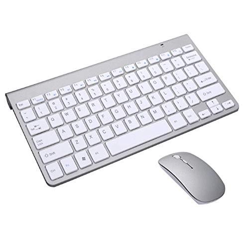 Zjcpow Teclado y ratón, Teclado Fino 2.4G con la combinaci