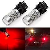 ENDPAGE Extremely Bright 3157 3156 3057 3056 3457 LED Bulbs 54-SMD LED Chipsets with Projector for Brake Tail Lights, Turn Signal Lights, Brilliant Red (Pack of 2)