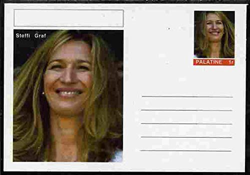 Palatine (Fantasy) Personalities - Steffi Graf (tennis) postal stationery card unused and fine PERSONALITIES SPORT TENNIS JANDRSTAMPS