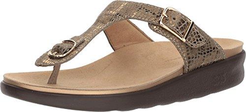 SAS Womens Sanibel Thong Sandal (7.5 M (M) (B) US, Olive Gold)
