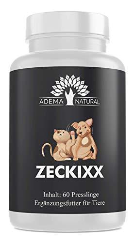 Adema Natural L ZECKIXX - Zeckenschutz für Tiere, Mittel gegen Zecken, 60 Presslinge