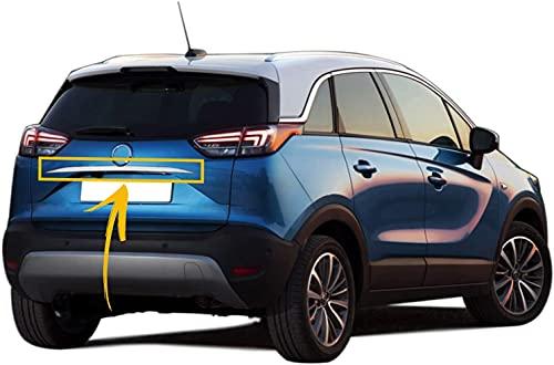 Für Opel Cross X 2017 + Chrom Heckklappenabdeckung Leiste Zierleiste Abdeckung oben Heckklappe Edelstahl