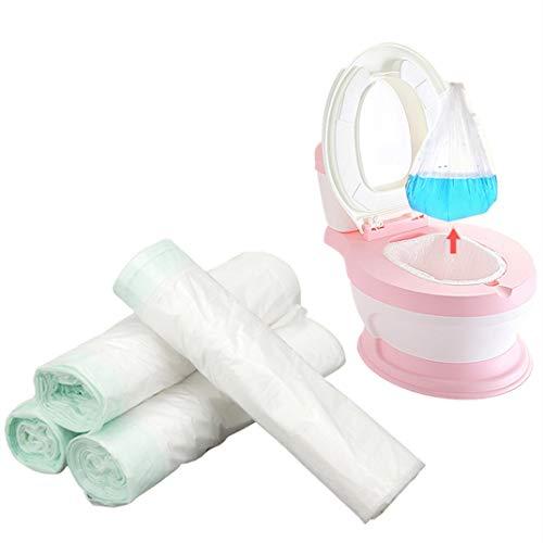 Riduttore WC per vasino, usa e getta, confezione da 50 sacchetti per vasino da viaggio, universale, con coulisse plastica