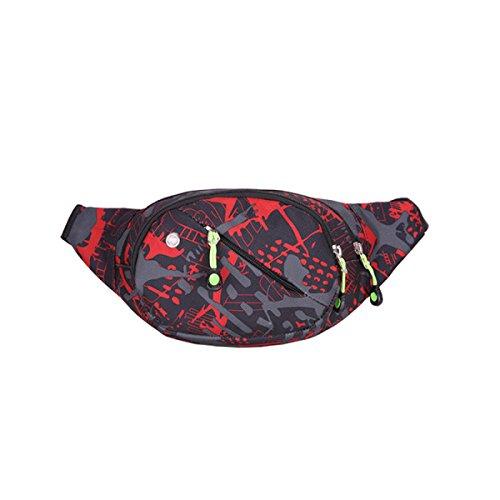 LYFLYF Multi-Fonctionnel Anti-éclaboussures Imperméable à l'eau Simple élégant Décontracté Homme Et Femme à L'extérieur Sport Voyage Course Waist PacksBag,D