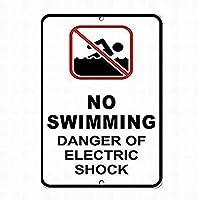 アートサインブリキの看板のための電気的な危険サインの看板警告