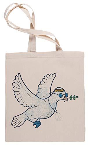 Wigoro Das Hippie Taube Einkaufstasche Tote Beige Shopping Bag